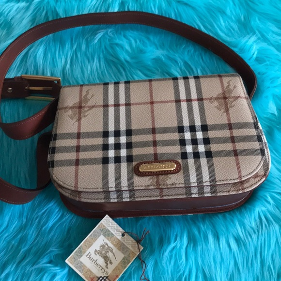 6e4f248d78bf Burberry Handbags - Burberry vintage sling crossbody bag pvc